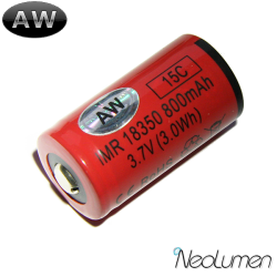 Accumulateurs IMR18350 800 mAh AW