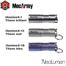 MecArmy IllumineX-1 Titane rechargeable