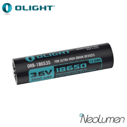 Accumulateurs 18650 HDC 10A 3500 mAh Olight