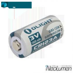 Olight CR123A 3V 1600mAh Lithium battery