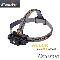 Fenix HL60R 950 lumens Lampe frontale rechargeable