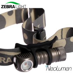 ZebraLight H502r frontale AA led rouge Flood