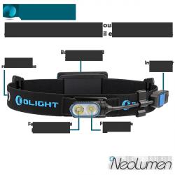 Olight HS2 Frontale Running et Trail double faisceau rechargeable