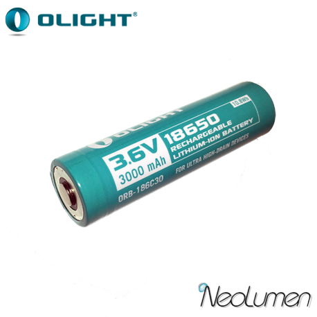 Accumulateurs 18650 pour Olight H2R 3000 mAh