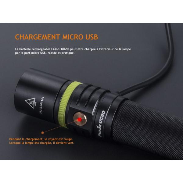 Modèle Torche Lampe 2017 1000 Fenix Lumens Rechargeable Uc30 3j5ALq4R