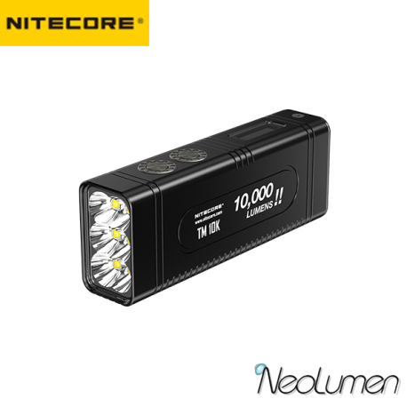 Nitecore TM10K 10 000 lumens lampe compacte rechargeable