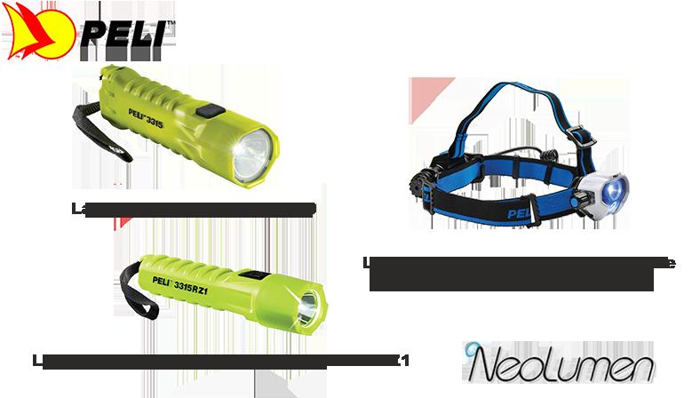 PELI, le spécialiste des lampes utilisables en milieux explosifs