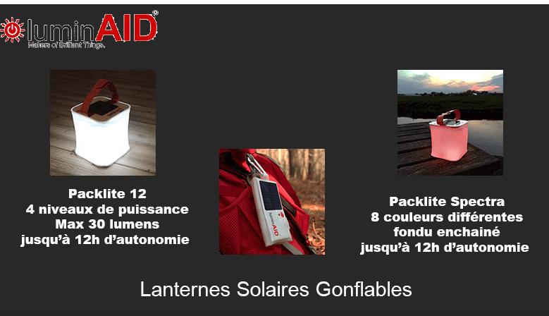 Lanternes solaires gonflables