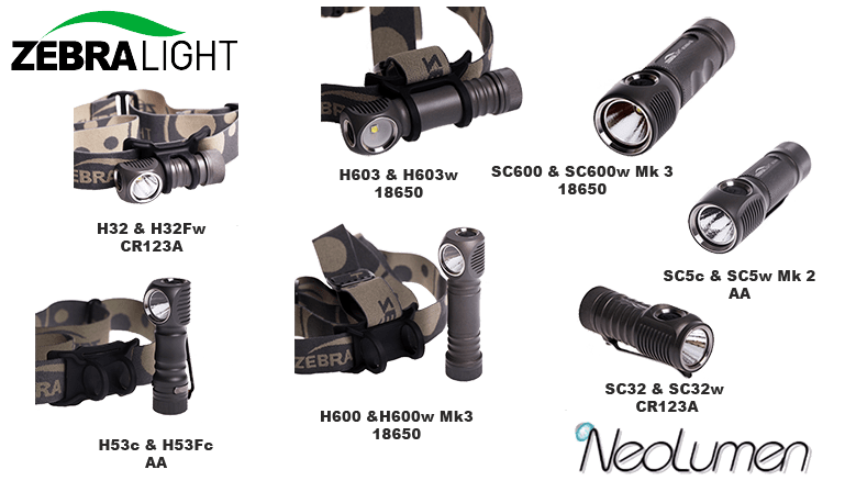 Catalogue produits Zebralight