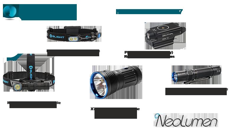 Nouveaux produits Olight disponibles chez Neolumen