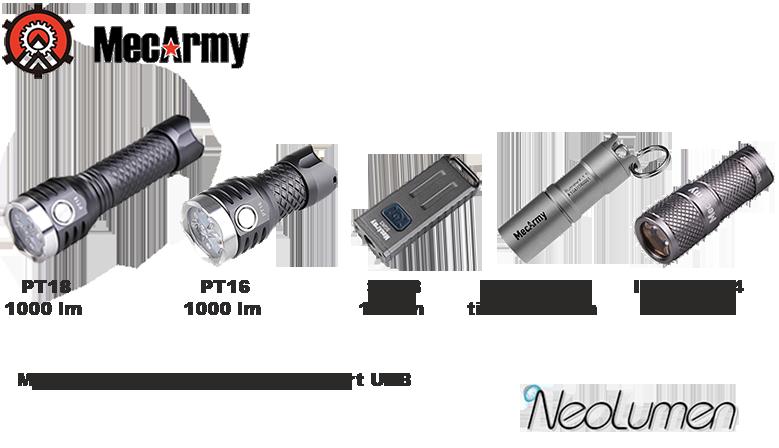 MecArmy PT18 - MecArmy PT16 - MecArmy SGN3 - MecArmy IllumineX-1T - MecArmy IllumineX-4
