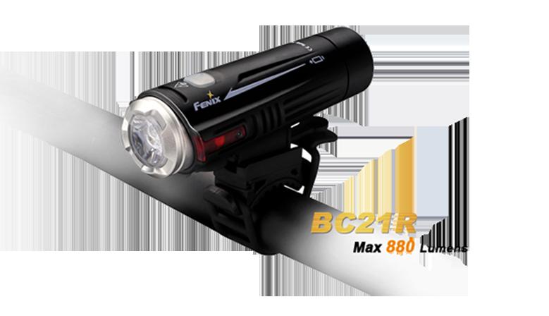 Lampe vélo Fenix BCR21 double faisceau rechargeable