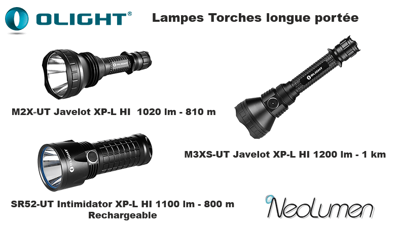 Olight extended range flashlights